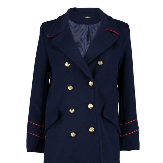 Best Manchester fashion labels: Boohoo Serena Button Military Coat