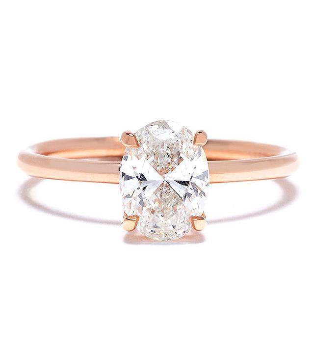 Danhov Oval-Shaped Diamond Engagement Ring