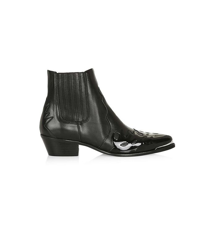 Topshop Arson Western Ankle Boots