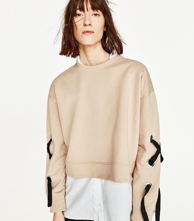 Zara Sweatshirt With Bow