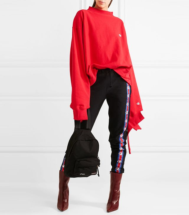 Vetements + Champion In Progress Oversized Cotton-Blend Top