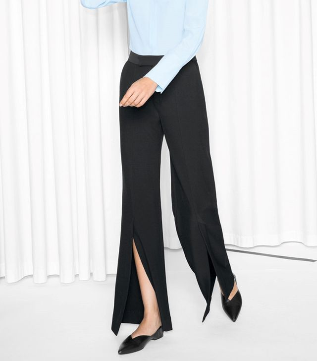 & Other Stories Tailored Slit Trousers
