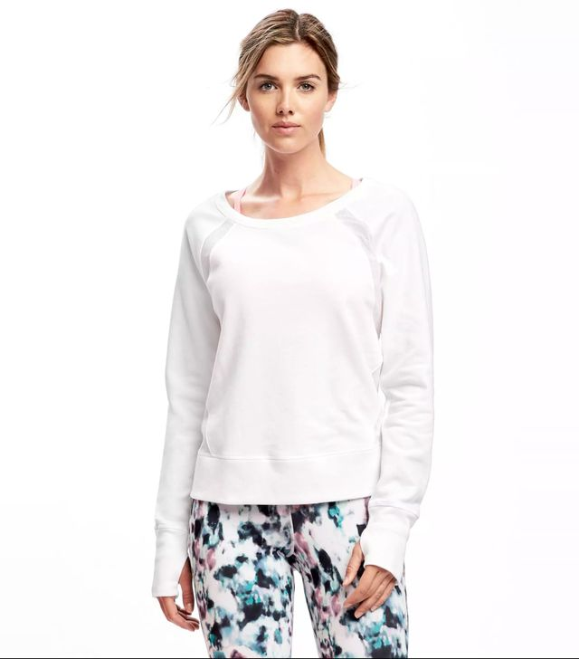 Old Navy Go-Dry Mesh-Trim Sweatshirt