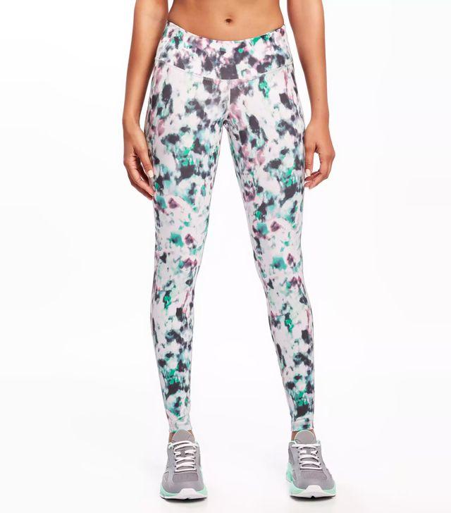 Old Navy Go-Dry Mid-Rise Printed Compression Leggings