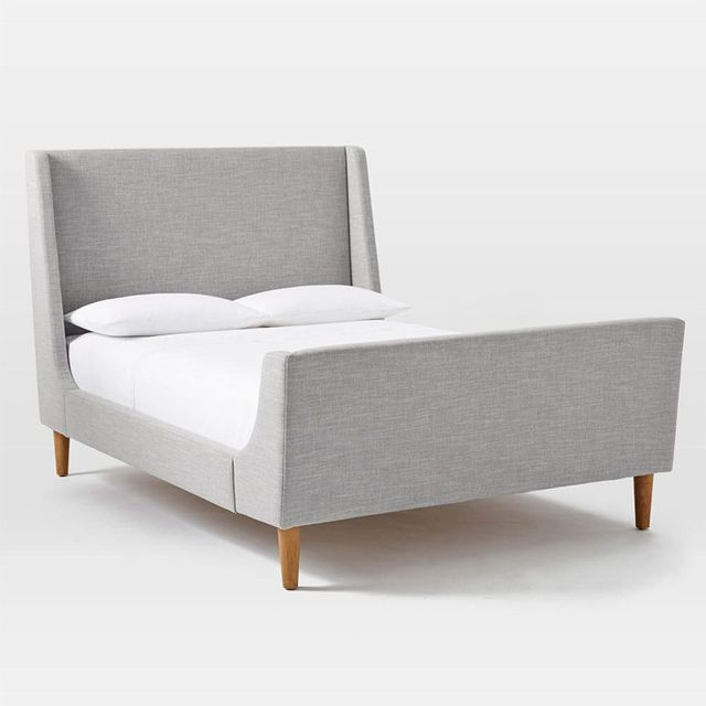 West Elm Upholstered Sleigh Bed