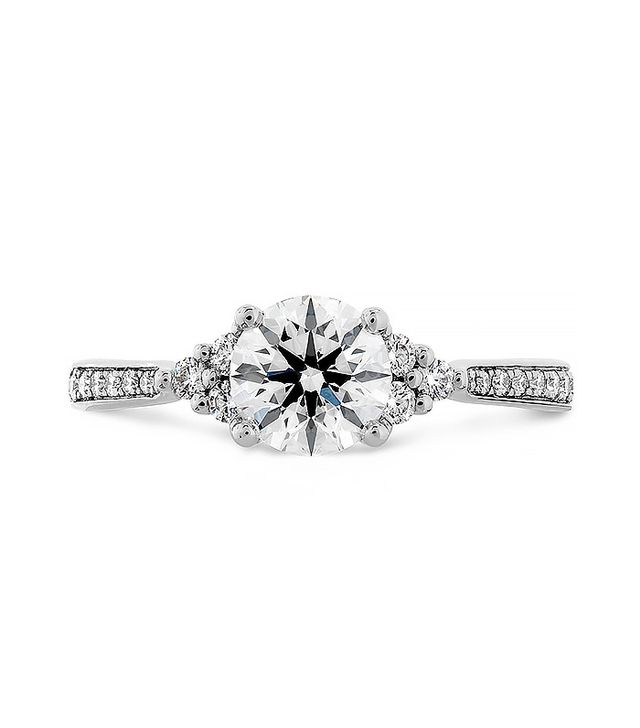 Hearts on Fire Felicity Queen Anne Engagement Ring Diamond Band