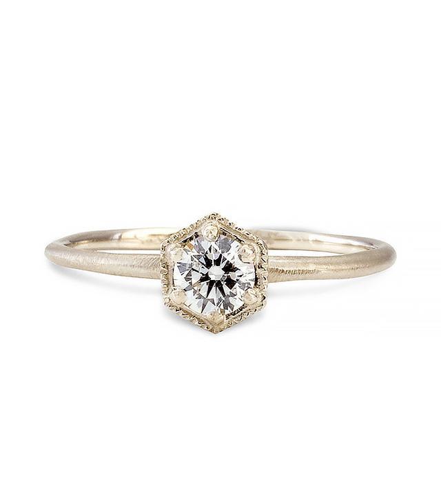 Satomi Kawakita Hexagon Diamond Ring