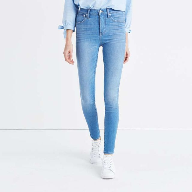 Madewell High-Rise Skinny Jeans in Hank Wash