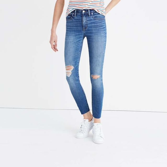 Madewell High-Rise Skinny Crop Jeans in Bruce Wash