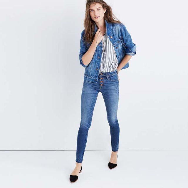 Madewell High-Rise Skinny Jeans: Button-Through Edition