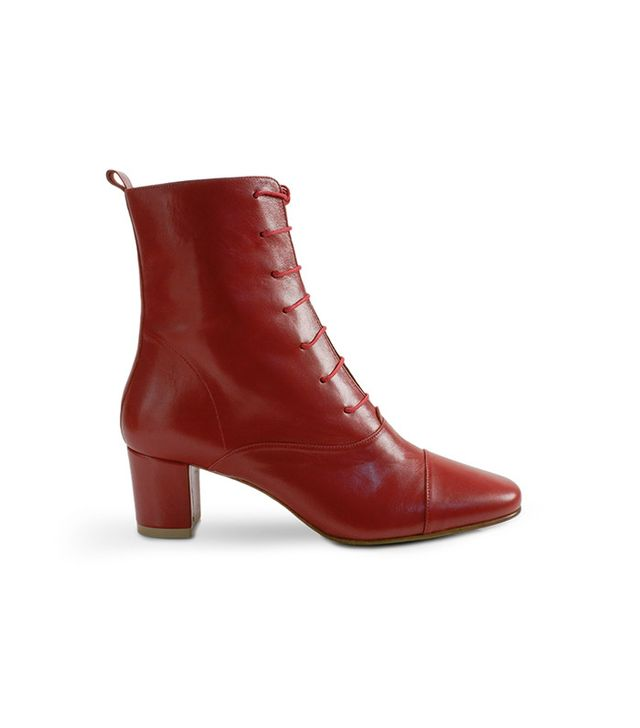 By Far Lada Leather Red Boot