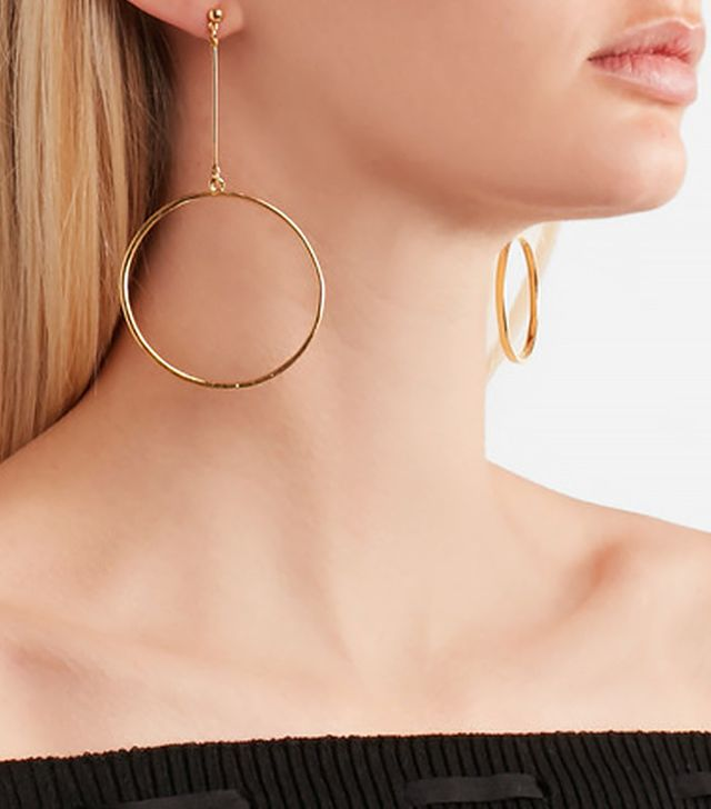 Kenneth Jay Lane Gold-Plated Hoop Earrings