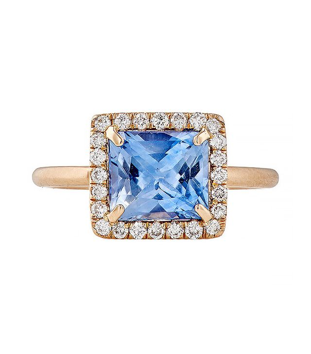 Irene Neuwirth Diamond Collection Blue Sapphire & White Diamond Ring