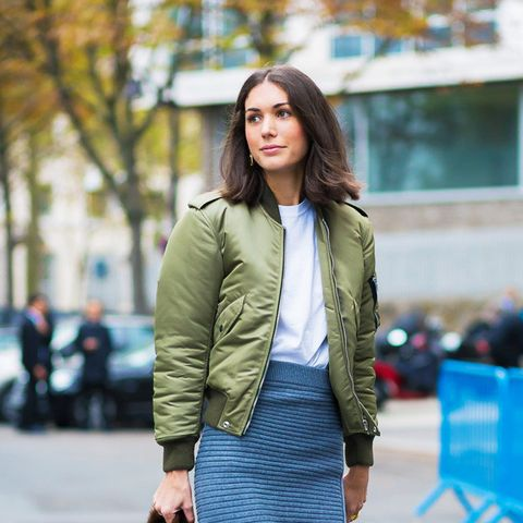 spring street style outfit ideas: Bomber jacket
