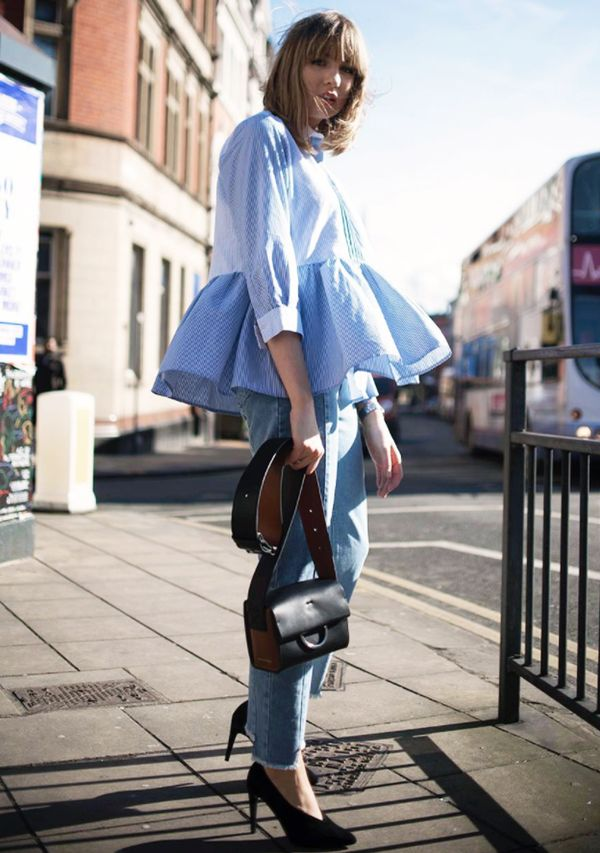 spring street style outfit ideas: Lizzy Hadfield