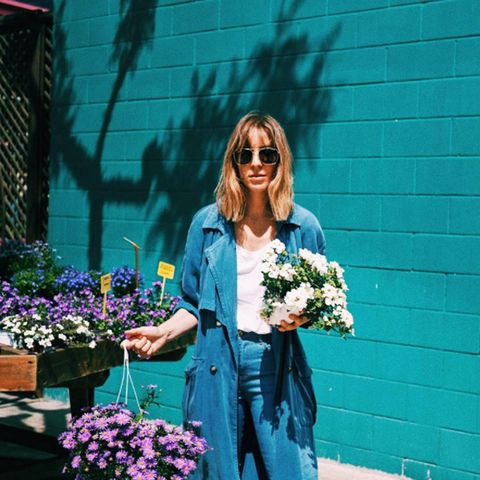 spring street style outfit ideas:  Freckles nur