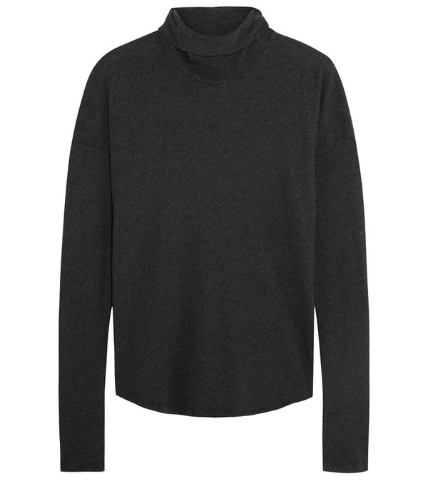 spring street style outfit ideas: rollneck jumper James Perse
