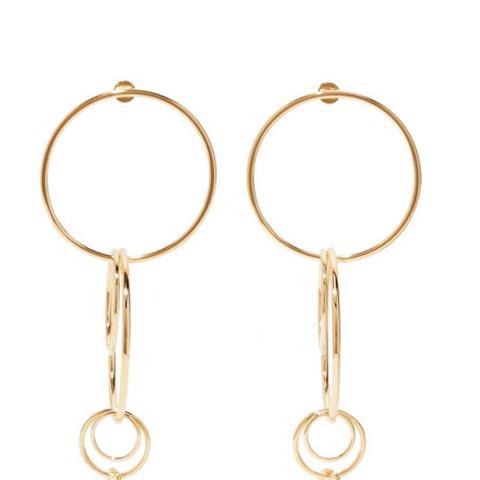 XL Multi Hoop Gold-Plated Earrings