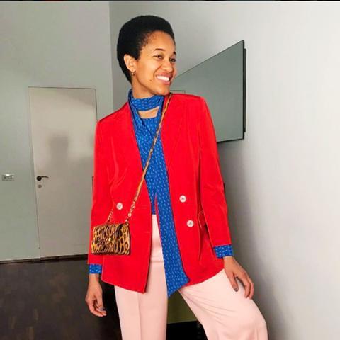 spring street style outfit ideas: Tamu McPherson
