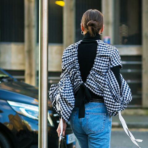 spring street style outfit ideas: gingham