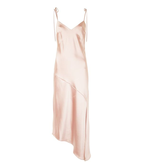 spring street style outfit ideas: Topshop slip dress