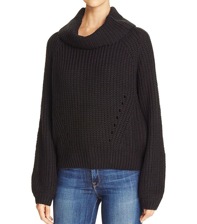 Elan Cropped Cowl Neck Sweater