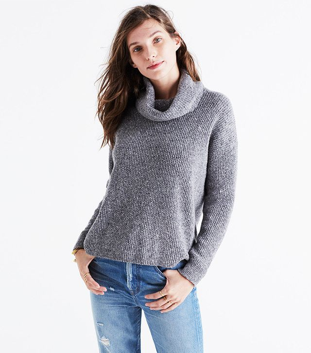 Madewell Donegal Convertible Turtleneck Sweater