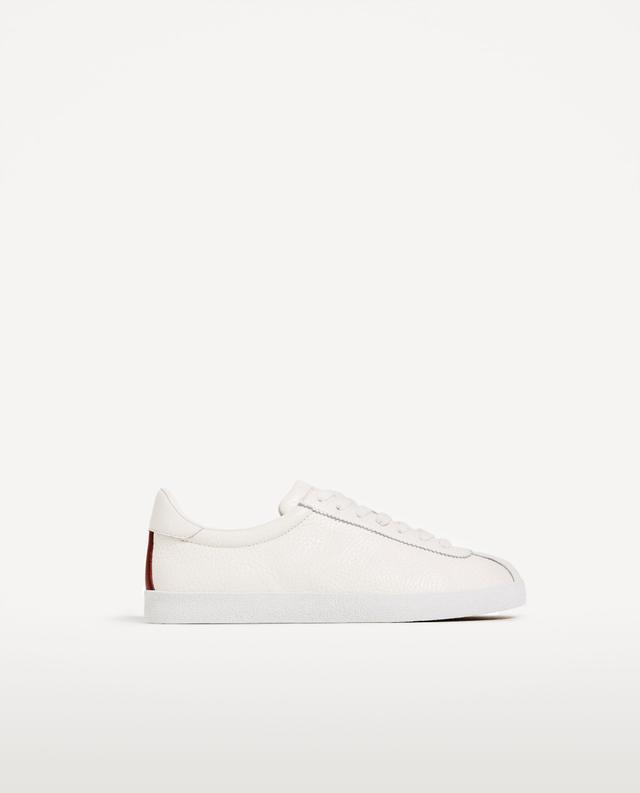 Zara Leather Plimsolls