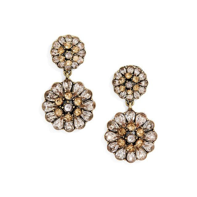 SugarFix by BaubleBar Crystal Floral Drop Earrings