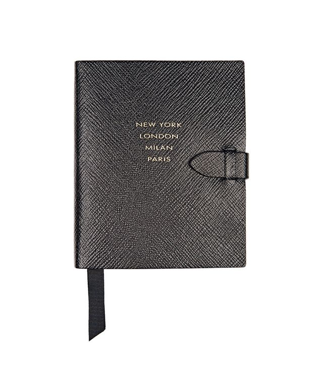 Smythson Panama Runway Notes Textured-Leather Notebook