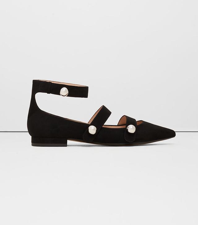 Mango Pointed-Toe Flat Shoes