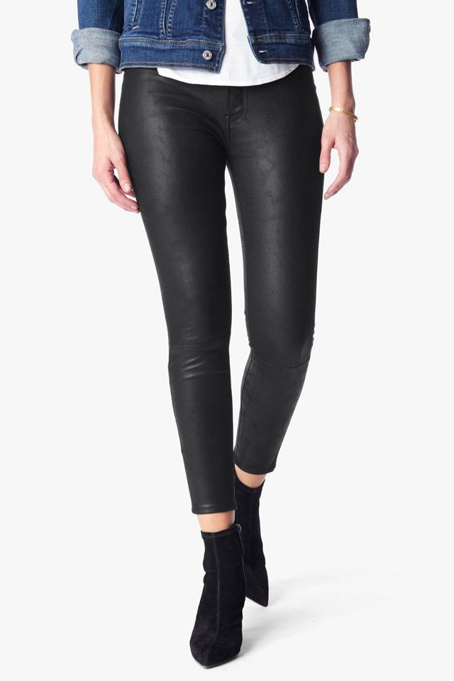 7 for All Mankind Leather-Like Skinny Jeans