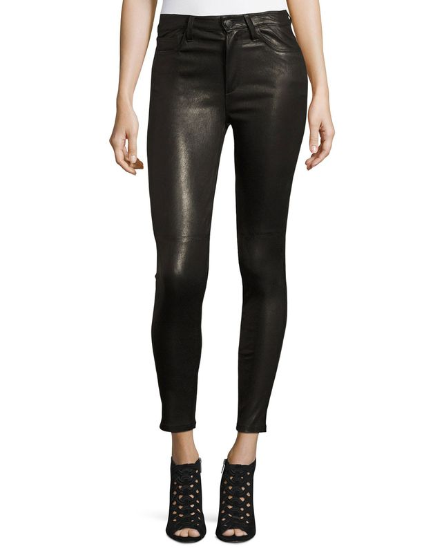 Joe's Jeans The Charlie Leather Ankle Skinny Jeans