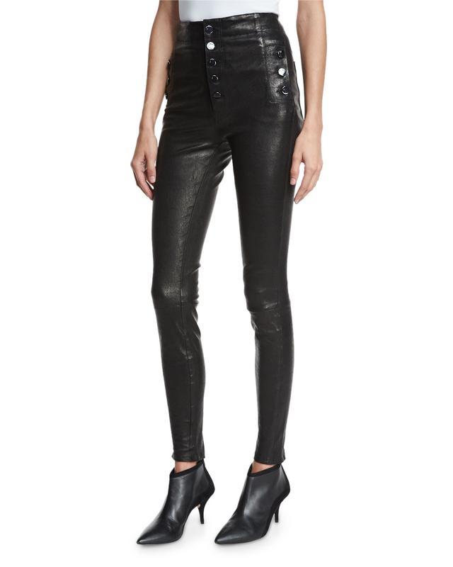 J Brand Natasha Leather Skinny Pants