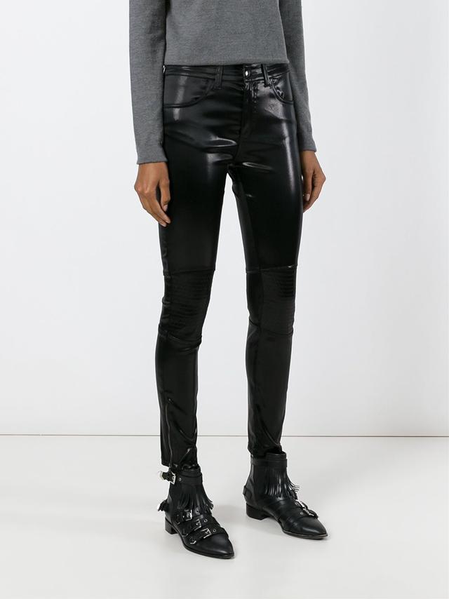 Giamba Leather-Effect Skinny Trousers