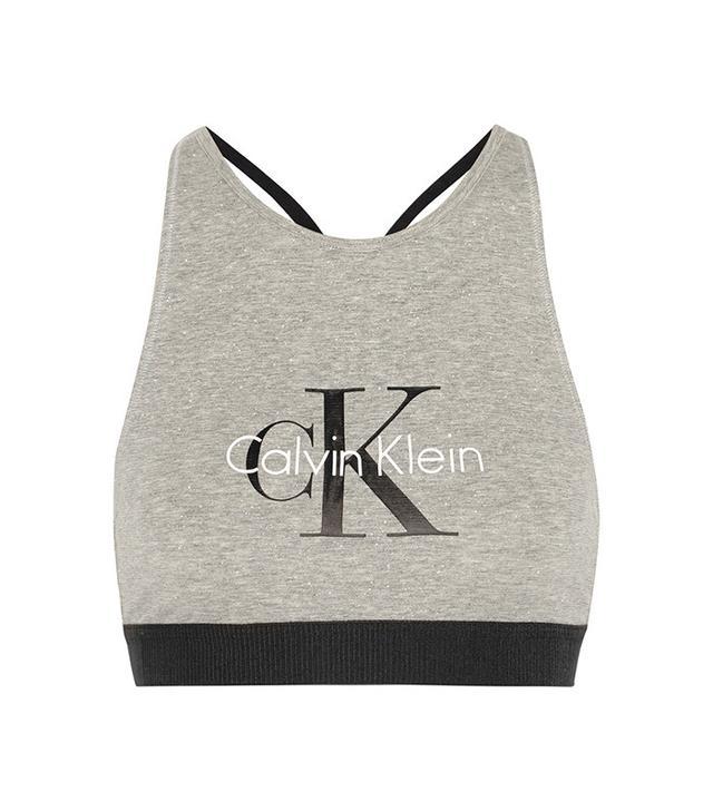 Calvin Klein Underwear Retro Stretch-Cotton Soft-Cup Bra