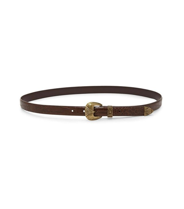 Forever 21 Faux Crocodile Skinny Belt