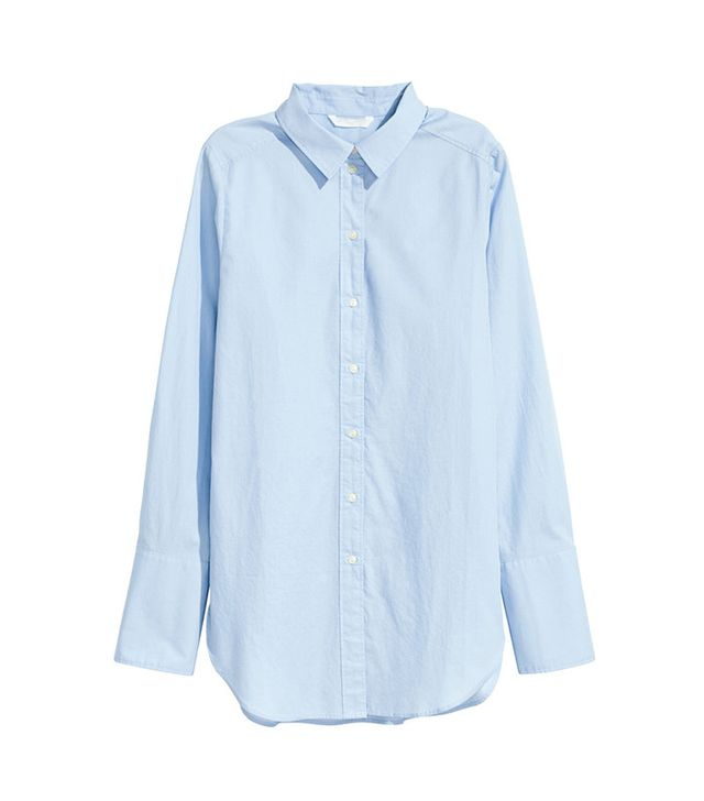 H&M Wide-Cut Cotton Shirt