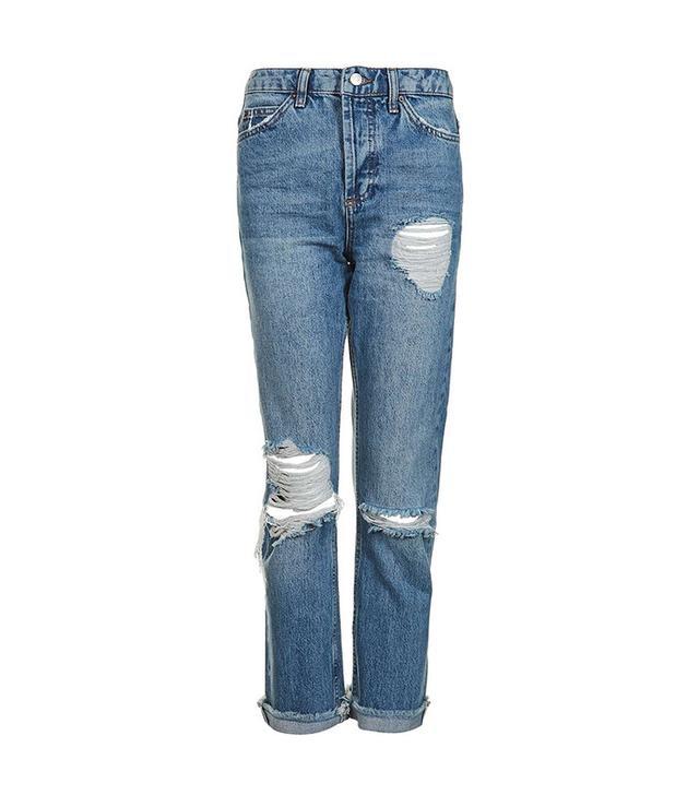 Topshop Moto Selvedge Straight Leg Jeans