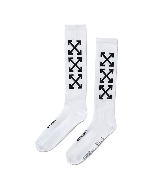 Off-White Arrows Socks White Black
