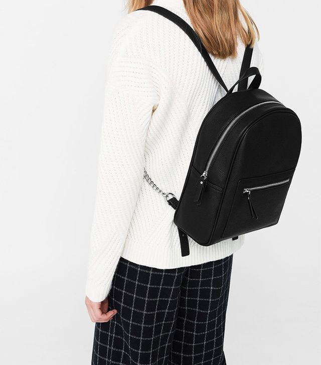 Mango Zip Pebbled Backpack