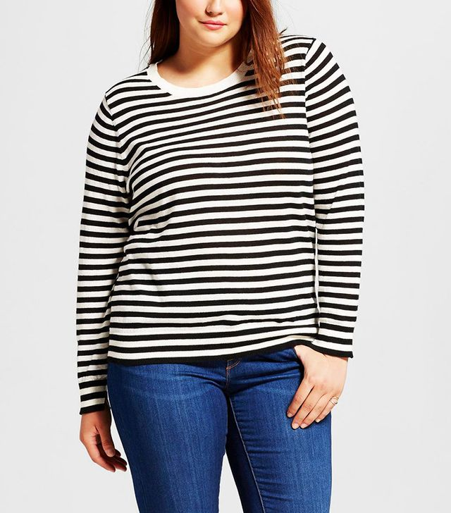 Who What Wear Plus Size Perfect Crew $