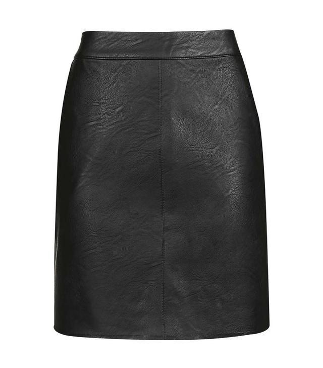 Topshop TALL PU Short Pencil Skirt