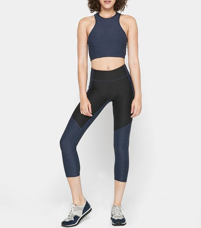 Outdoor Voices Two-Tone Warmup Leggings