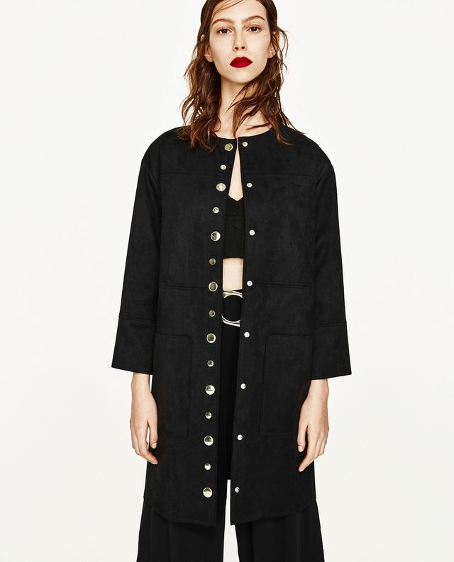 Zara Overshirt With Metallic Detail