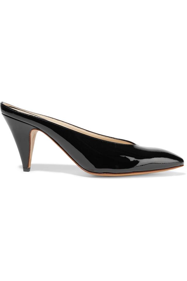 Mansur Gavriel Heel Slipper Patent-Leather Mules