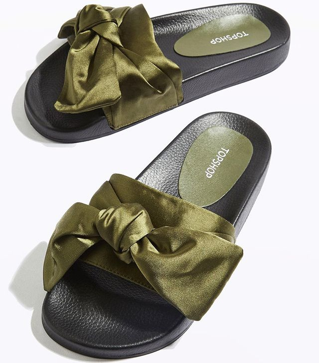Topshop Halo Bow Sliders