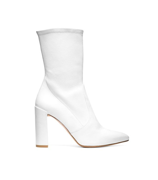Stuart Weitzman The Clinger Booties in Snow