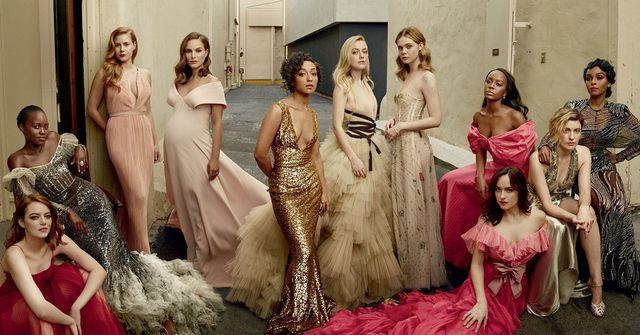 Attractive Vanity Fair Nude Hollywood Issue Gif