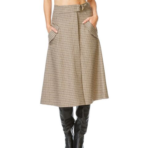 Rope Wrap Skirt With Pockets